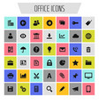 big office icon set trendy flat icons vector image vector image