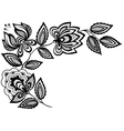 Black and white lace flowers vector image vector image