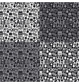black and white sale seamless patterns vector image vector image