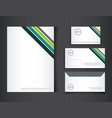 branding identity corporate company design vector image vector image