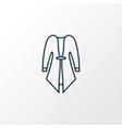 cardigan icon line symbol premium quality vector image vector image