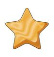 cartoon star celebration decoration element icon vector image vector image
