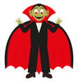 cartoon vampire on a white background vector image vector image