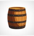 cartoon wooden barrel vector image vector image