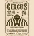 circus tent invitation retro style poster vector image
