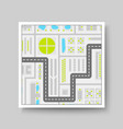 city map icon flat concept vector image