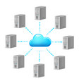 cloud computing symbol for design on white vector image