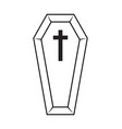coffin halloween icon isolated on white background vector image vector image