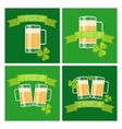 Collection of Happy St Patricks day green cards vector image