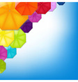 color umbrellas vector image vector image