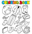 coloring book with apparel 1 vector image
