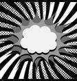 comic page monochrome concept vector image vector image