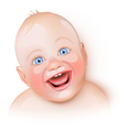 Cute baby is laughing vector image vector image