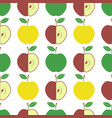 cute fresh red and yellow green apple seamless vector image vector image
