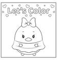 cute lets color daisy duck drawing sketch vector image vector image