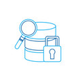 database search safety lock data center icon image vector image vector image