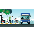 Disabled bus vector image vector image