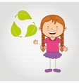 Ecologically kids design vector image vector image
