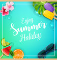 enjoy summer holiday with ice cream vector image vector image