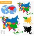 Eurasia Map vector image vector image