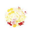 flat abstract autumn plants pattern icon vector image vector image
