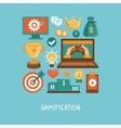 flat concept - gamification vector image vector image