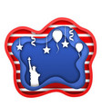 fourth of july independence day of the usa statue vector image vector image