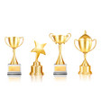 golden awards realistic collection vector image vector image