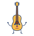 guitar instrument kawaii character vector image vector image