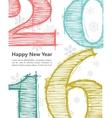Happy new 2016 year Seasons Greetings vector image vector image
