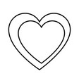 heart icon image vector image vector image