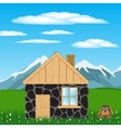 House in mountain vector image vector image