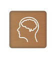 human brain icon an internal organ human vector image