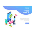 isometric record voice message concept a person vector image vector image