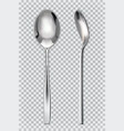Metal spoons 3d realism icon