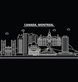 montreal silhouette skyline canada - montreal vector image vector image
