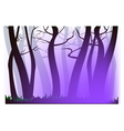 Morning purple haze vector image vector image