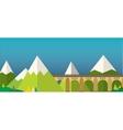 Mountain bridge landscape vector image vector image