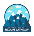 mountain day 0005 vector image