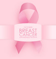 october breast cancer awareness month concept vector image vector image