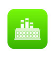oil refinery plant icon digital green vector image vector image