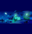pirate ghost on haunted island spooky filibuster vector image vector image