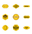 premium quality retro label icons set flat style vector image vector image