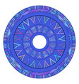 round boho ornament native pattern element for vector image vector image