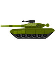 russian battle tank flatl art isolated vector image