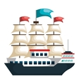 sail boat isolated icon vector image vector image