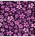 Seamless foral pattern with lined and colored vector image vector image
