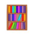 Shelf of books icon cartoon style vector image vector image