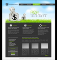 site with a bag dollars for business vector image vector image