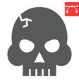 skull glyph icon video games and death horror vector image vector image